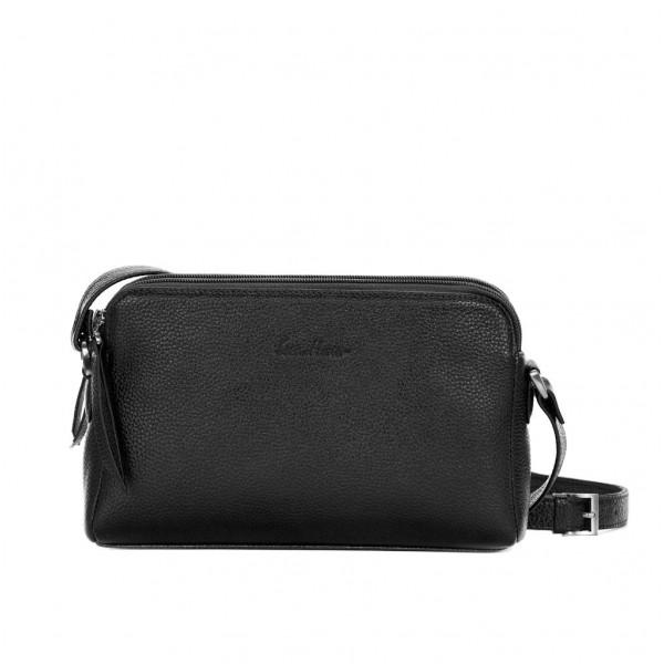 Кожаная сумка GO-AHEAD черная