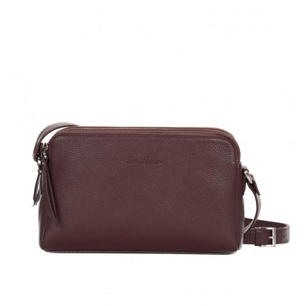 Кожаная сумка GO-AHEAD коричневая