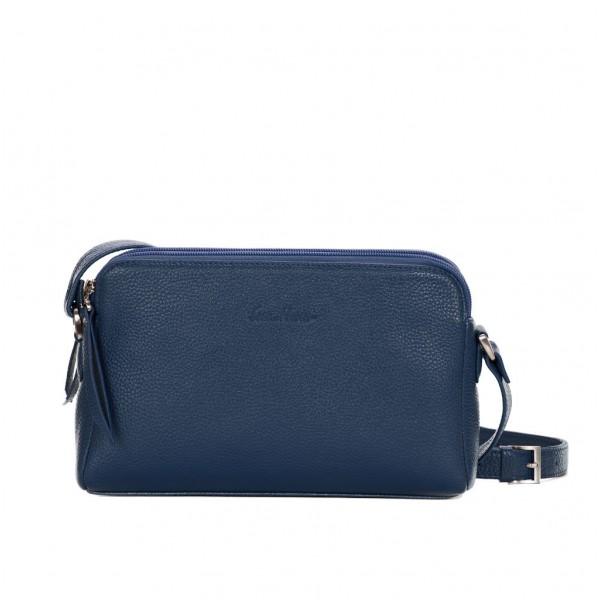 Кожаная сумка GO-AHEAD синяя