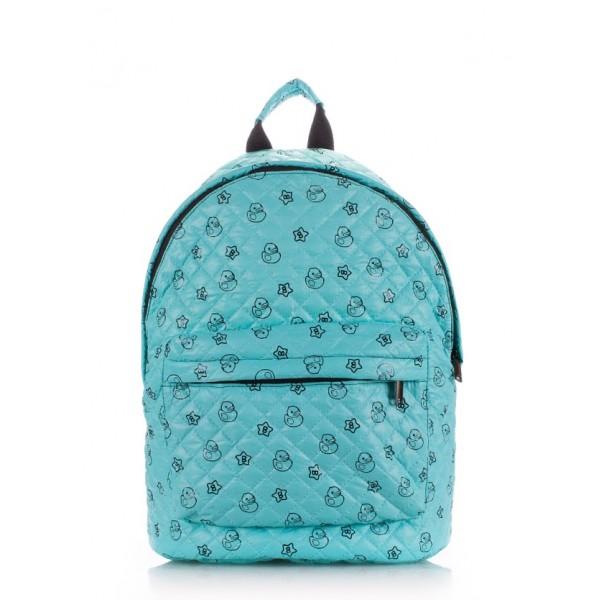 Стеганый рюкзак голубой