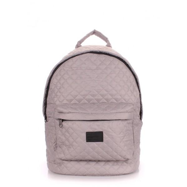 Стеганый рюкзак серый