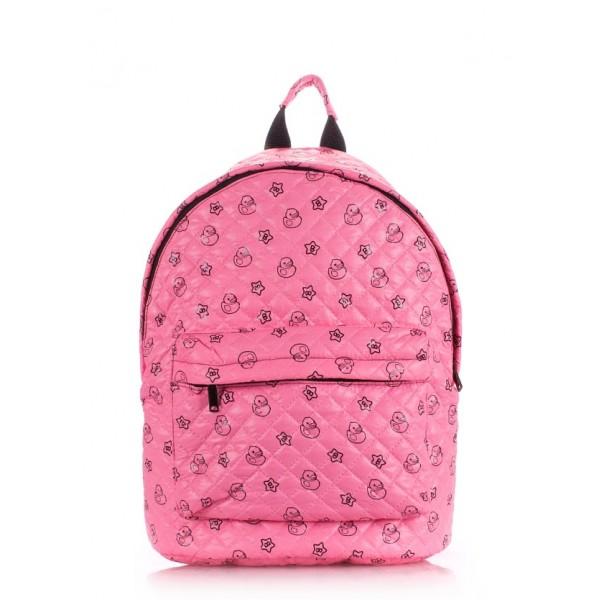 Стеганый рюкзак розовый