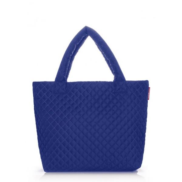 Стеганая дутая сумка Eco синяя