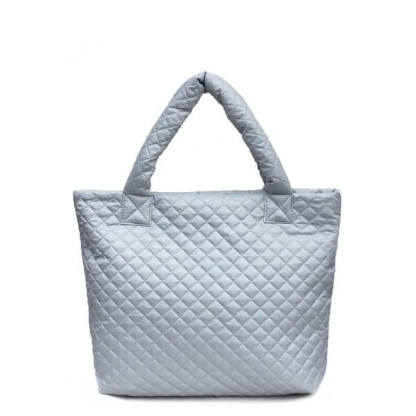 Стеганая дутая сумка Eco серая