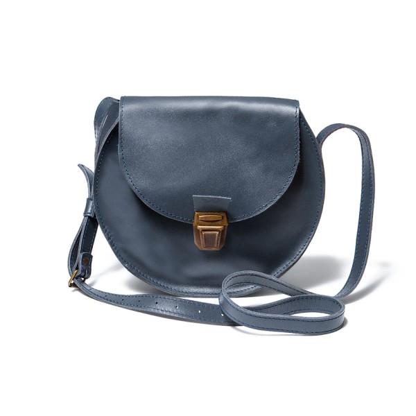 Круглая сумка синяя