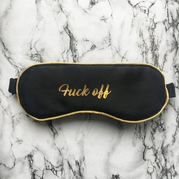 Маска для сна Fuck off
