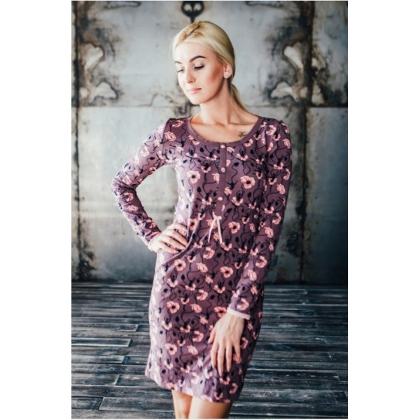 Лиловое платье для дома