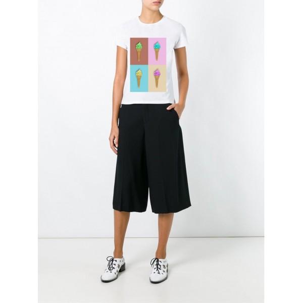 Женская футболка с принтом Мороженко