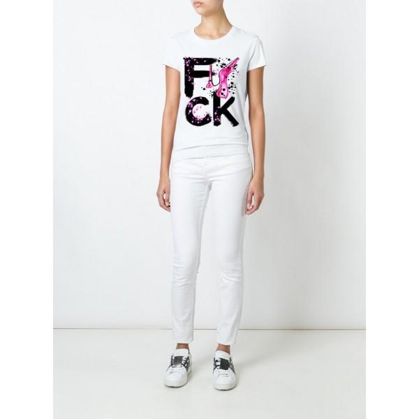 Женская футболка с принтом Fuck