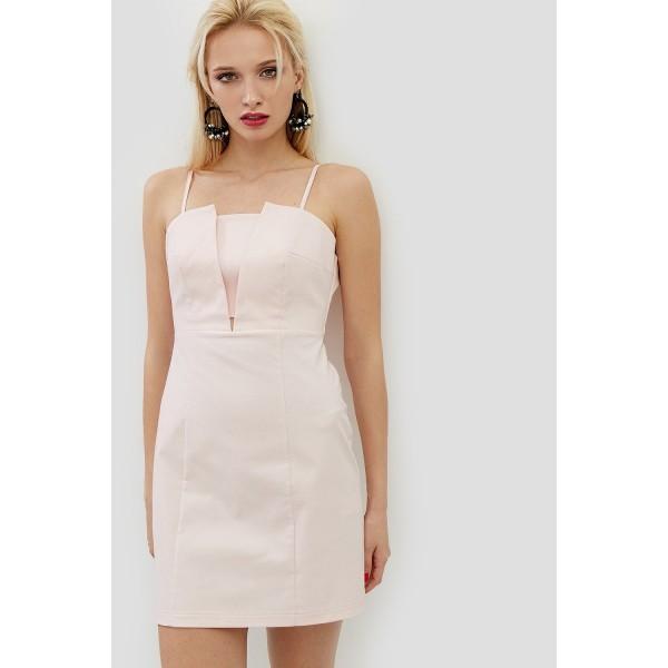 Коктейльное платье на бретелях CD2651pnk
