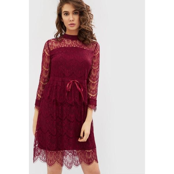 Коктейльное платье CD1780bordo
