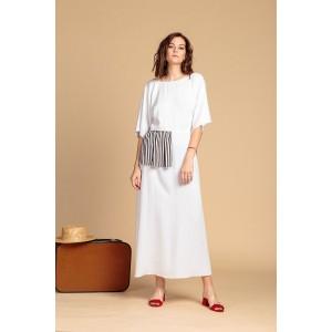 Сукня з баскою комбі