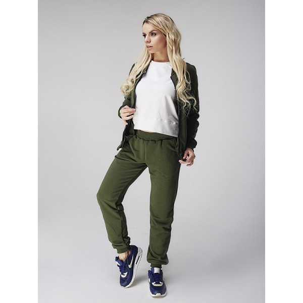 Спортивный костюм женский зеленый