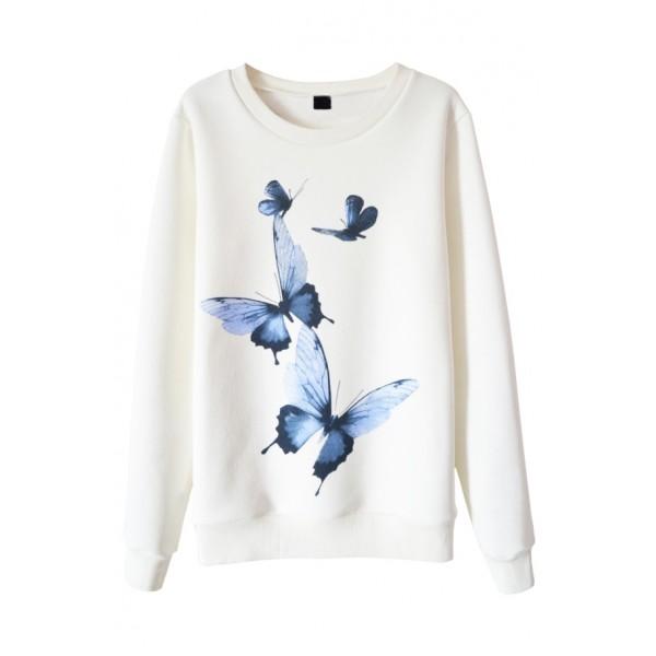 Свитшот с голубыми бабочками