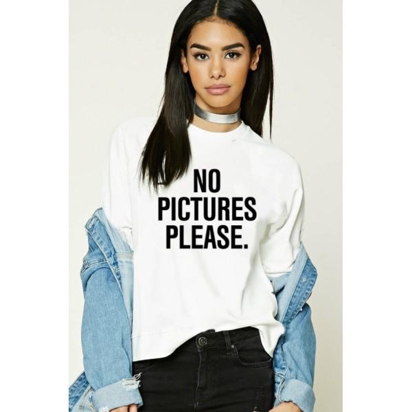 Свитшот женский No pictures