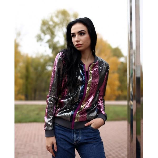 Куртка с пайетками