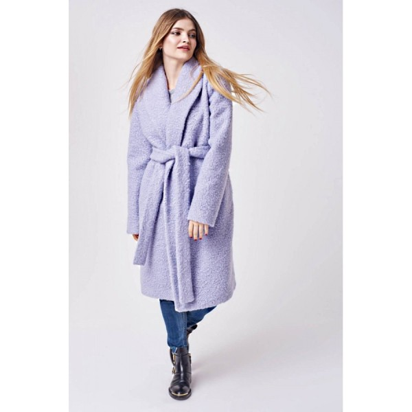 Пальто лавандовое