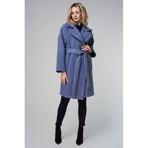 Пальто со спущенным плечом ниагара