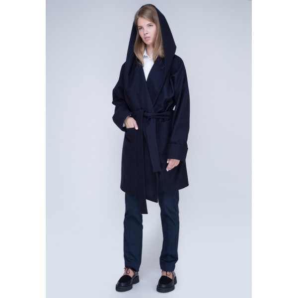 Пальто с капюшоном IU1638dbl