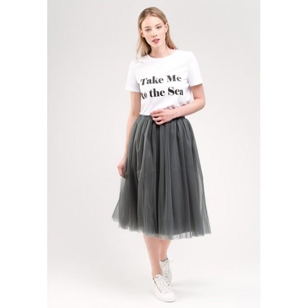 Темно-серая юбка из фатина