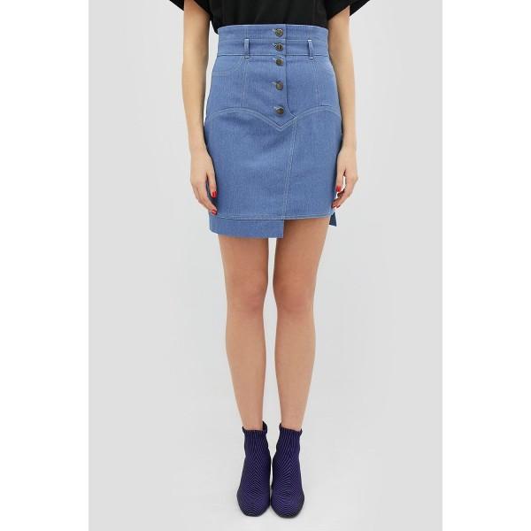 Джинсовая юбка с завышеной талией