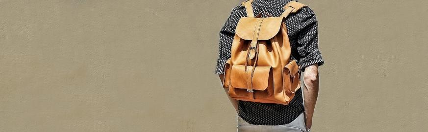 Мужские рюкзаки Материал Натуральная кожа